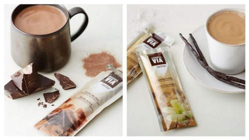 Starbucks VIA Latte Samplers of 2 - Caffe Mocha, Vanilla Latte (6 Packets (three each flavor))