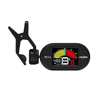 Fzone FT-11 clip afinador eléctrico Color pantalla guitarra cromático bajo Violín Ukulele Universal portátil: Amazon.es: Electrónica