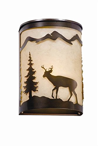 - Vaxcel WS55408BBZ Bryce Wall Lamp, Burnished Bronze, 11