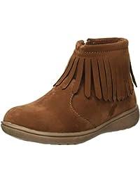 Kids Girl's Cata3 Brown Fringe Boot Chukka