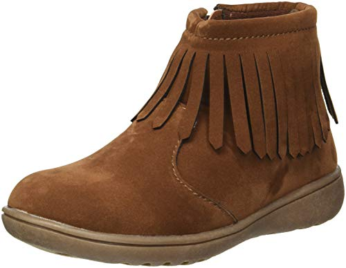 carter's Girls' Cata3 Fringe Chukka Boot, Brown, 5 M US Toddler