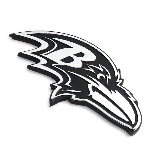 NFL Baltimore Ravens 3D Chrome Metal Car Emblem