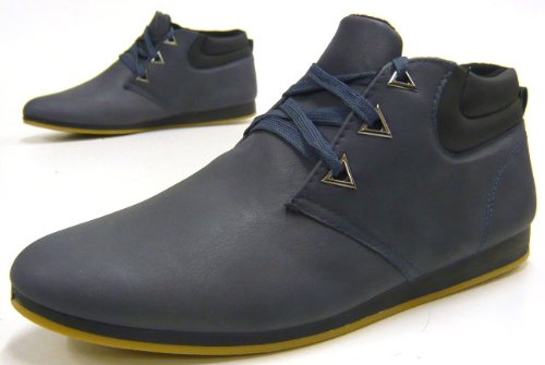Fashion Stiefelette Herren schuhe Sneaker Boots Blau