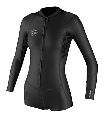 O'Neill Wetsuits Womens O'Riginal Long Sleeve Spring Wetsuit, Black/Black/Black, Size 12