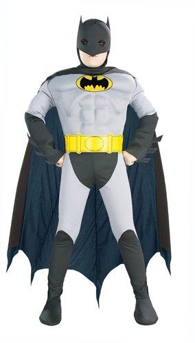 [Muscle Chest Batman Halloween Costume-Medium Size (8-10)] (6 Character Halloween Costumes)