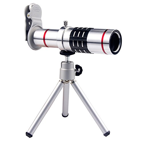 SODIAL(R) Cellphone Mobile Phone 18x Camera Zoom optical Telescope telephoto Lens for iPhone Samsung HTC With Mini Tripod Silver hot sale