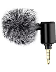 NIDONE Portable Microphone and Mobile Phone Mini Microphone 3.5mm Adjustable Portable Vlogging Livestream Recording Mic