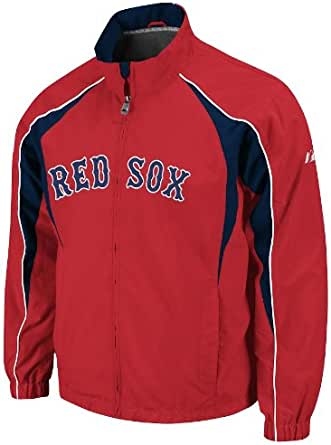Majestic Boston Red Sox Red Vindicator Full Zip Wind Jacket