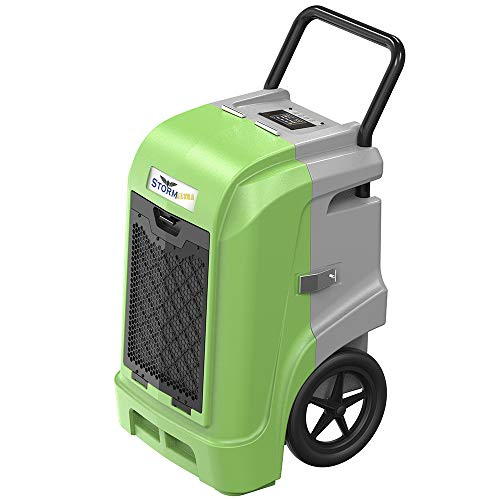 AlorAir Storm Ultra Industrial Dehumidifier 190 PPD, cETL, LCD Display, 5 Years Warranty, LGR Commercial Dehumidifier with Pump, Epoxy Coating on Coil, Designed for Flood Restoration (Green)