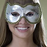 Trimmed Silver Masquerade Mask