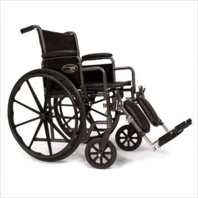 Everest & Jennings Traveler SE Wheelchair 16 X 16 Detachable Desk Arm, Elevating Legrest