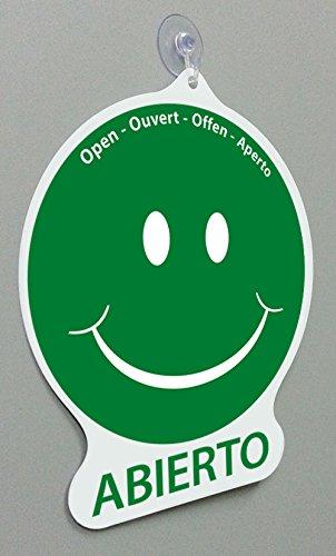 Cartel Emoticon abierto/cerrado: Amazon.es: Oficina y papelería