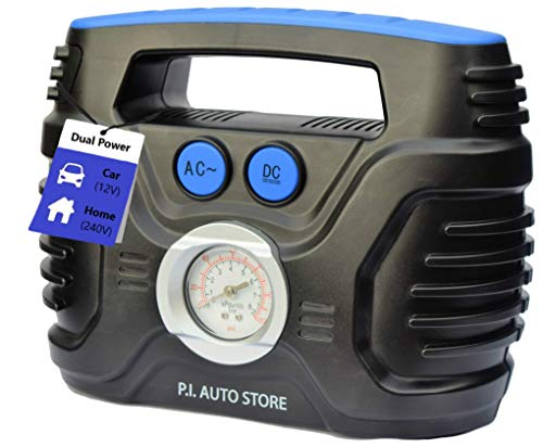 P.I. Auto Store - Tyre Inflator - Dual Electric Power 12V DC (vehicle) OR 240V...