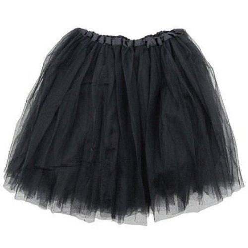 [Girls Ballet Tutu Skirt By Mystiqueshapes (Black)] (Black Halloween Skirt)