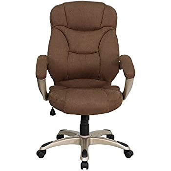 Attractive Flash Furniture High Back Brown Microfiber Contemporary Executive Swivel  Chair With Arms