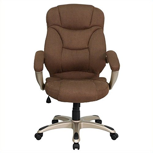 Flash Furniture High Back Brown Microfiber Contemporary Executive Swivel Chair with Arms by Flash Furniture