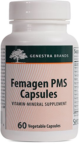 Genestra Brands - Femagen PMS Capsules - Vitamin, Mineral, and Herb Combination* - 60 Vegetable Capsules