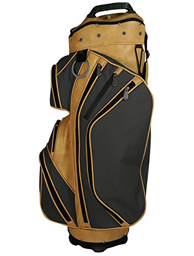 Hot-Z Golf Manhattan Heritage Collection Cart Bag 2017 Black/Tan