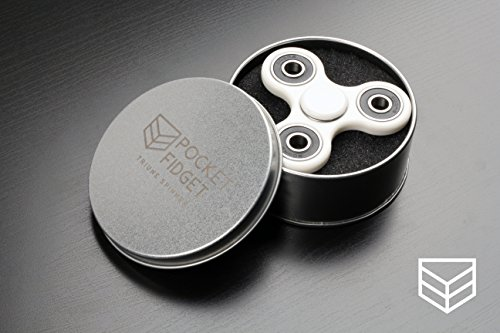 Fidget Spinner – Triune Spinner by Pocket Fidget – HIGH SPEED Si3N4 Ceramic Bearing, Fast EDC Fidget Toy for Increased Focus, Stress Relief, ADHD, Autism, and Anxiety.