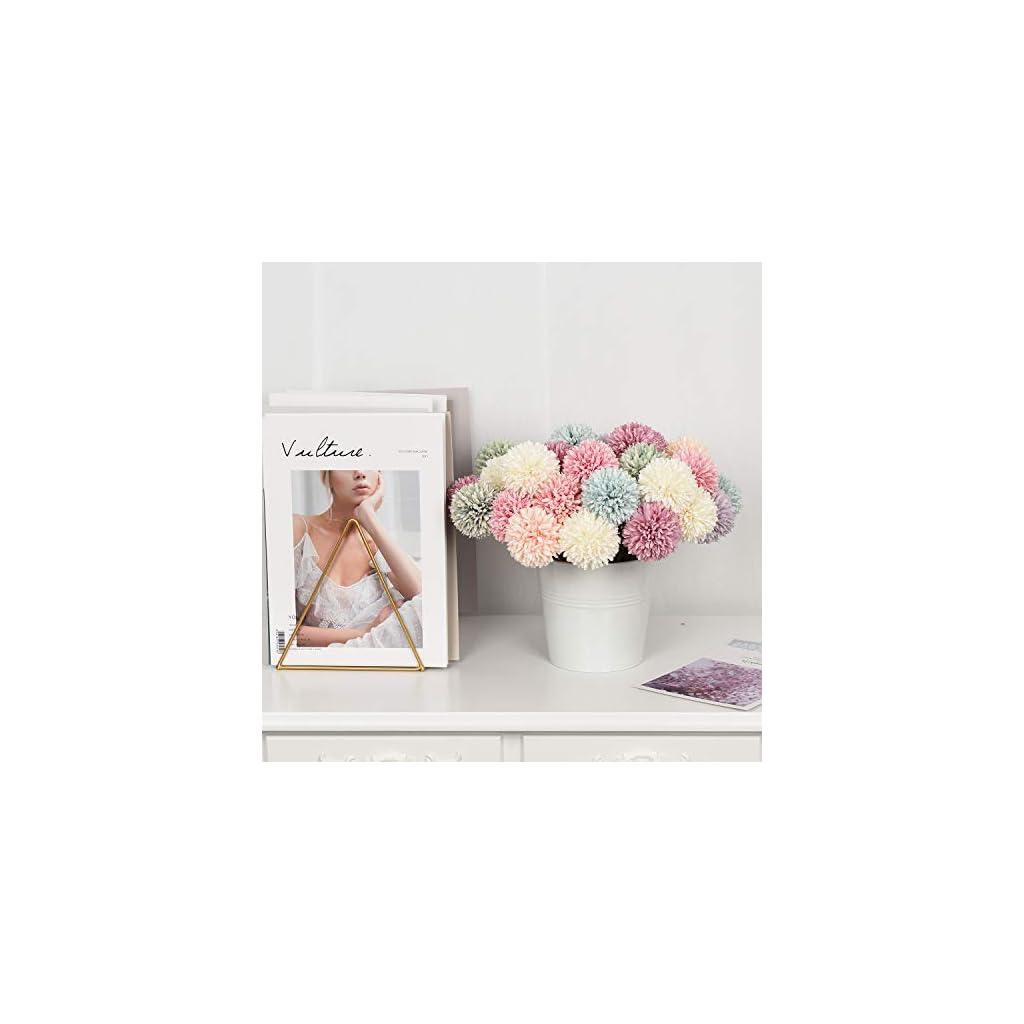 DearHouse Artificial Flowers, 7 Pcs Fake Flowers Silk Artificial Hydrangea Bridal Wedding Bouquet for Home Garden Party Wedding Decoration (Green)