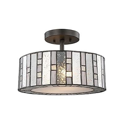 Elk Lighting 70213/2 Close-to-Ceiling-Light-fixtures, Bronze