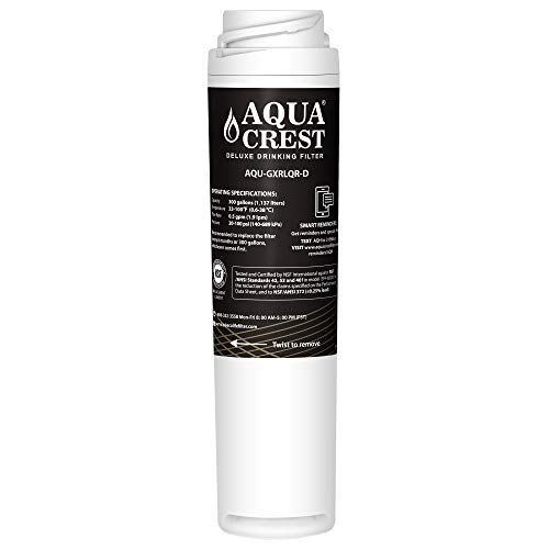 AQUACREST NSF 401,53&42 Inline Water Filter, Compatible with GE SmartWater Twist and Lock In-Line GXRLQR -- Reduces Lead, Chlorine, Taste&Odor, Cyst, Benzene and more