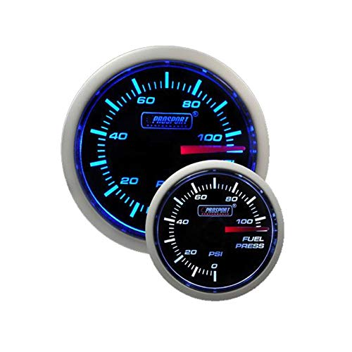 Fuel Pressure Gauge- Electrical Blue/white Performance Series 52mm (2 1/16