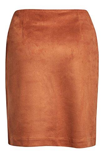 next Mujer Falda Antelina Corte Regular Top Ropa Bronceado
