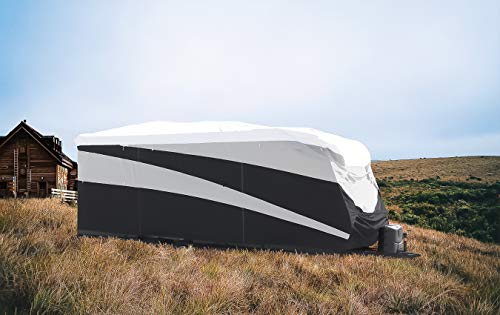 Camco ULTRAGuard Supreme RV Cover-Extremely Durable Design Fits Toy Hauler Trailers 24' -28', Weatherproof with UV Protection and Dupont Tyvek Top (56160)