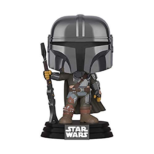 Funko Pop! Star Wars The Mandalorian - Mandalorian (cromo), exclusivo de Amazon, multic