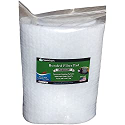 "Premium True Dual Density Filter Roll - 12"" by 72"" by .75"" to 1"" - Aquarium Bonded Prefilter Media Pad Dye-Free - Custom Made In USA For Aquatic Experts"