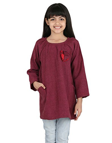 Fabindia Girls Wool Tweed Tunic/6-8Yr by Fabindia