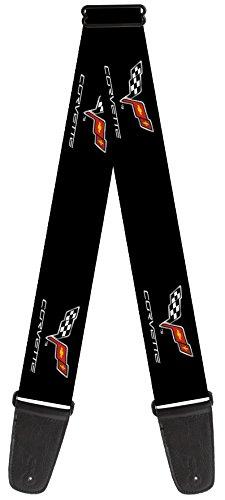 chevrolet-theme-nylon-guitar-strap-corvette-c6-logo-repeat