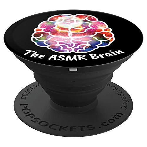 ASMR Brain Colorful Autonomous Sensory Meridian Response - PopSockets Grip and Stand for Phones and Tablets