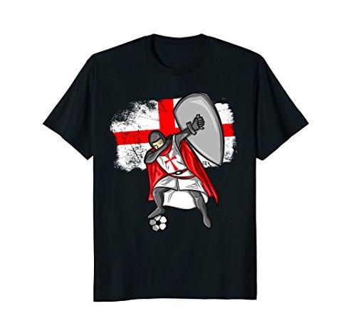 England Flag Soccer Crusader Dabbing - Foot Crusader