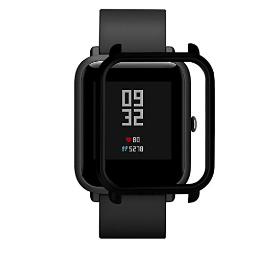SUKEQ Watch Protect Case, Slim Colorful Full Protective Bumper Case Cover For Xiaomi Huami Amazfit Bip Youth Watch (Black)