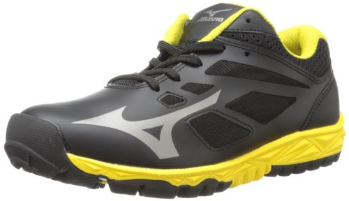 Mizuno Men's Speed Trainer 5 Turf Shoe,Black/Yellow,7 M US (Mizuno Training Shoes Mens Cross)