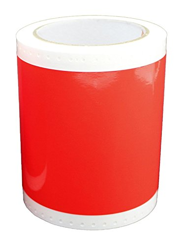 Max USA SL-S131KN Fluorescent Red Tape Roll For CPM-100G3U, Sold 2 per Zack Pack. by Max