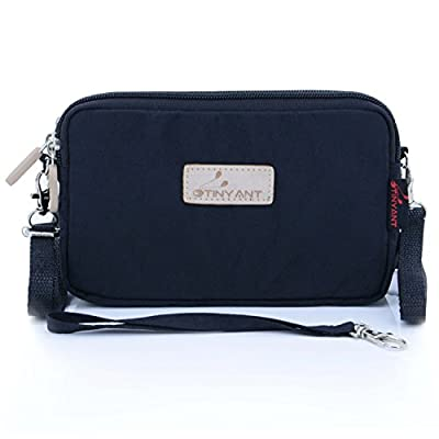 liangdongshop Women's 3 Layers Wristlet Purse Zipped Cell Phone Clutch Crossbody Handbags
