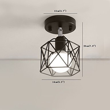 BAJIAN-LI Modern luxury Flush Mount, Rustic/Lodge Vintage Retro Painting Feature for Mini Style Metal Dining Room Kitchen Entry Game Room Hallway black by BAJIAN-LI (Image #1)