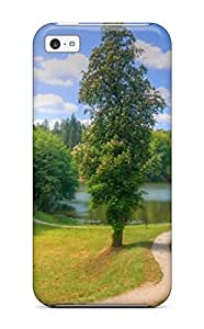 Faddish Phone Beautiful Trees Set Landscape Case For Iphone 5c / Perfect Case Cover