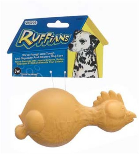 JW Pet Company Ruffians Chicken Dog Toy, Large (Colors Vary), My Pet Supplies