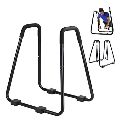 ZSCKJ Dip staan parallelle bar multifunctioneel dip station fitness bar train verschillende spieren om een perfect…