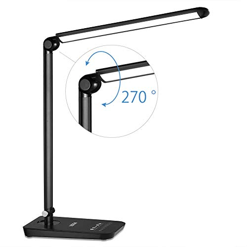 (LEDGLE LED Desk Lamp Dimmable LED Table Lamp, 4 Lighting Modes, 7-Level Dimmer, 2700K-6000K Touch-Sensitive Control Panel, Eye-Caring Office Lamp,Folding Desk Lamps, Reading Lamps, Bedroom Lamps)