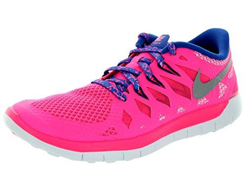 Nike  Free 5.0 (Gs) - Zapatillas para niñas hyper pink/metallic silver/royal blue