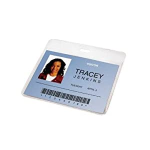 Amazon.com : GBC Pre-Punched ID Badge Laminating Pouches, 5 mm ...
