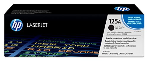 HP 125A (CB540A) Black Original Toner Cartridge (Hp Cp1210 Laserjet Color)