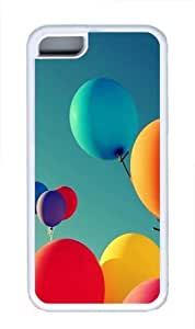 Holiday Balloon TPU Silicone Case Cover for iPhone 5C White