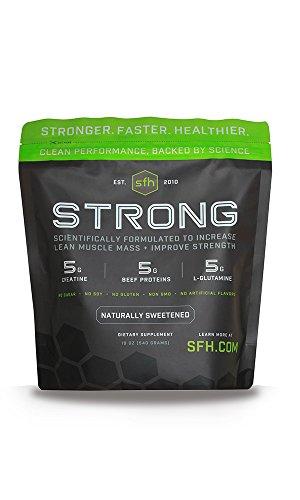STRONG Muscle Builder by SFH | Creatine Glutamine & Serum Beef Protein for Lean Muscle Growth & Strength | Keto Creatine Workout Supplements for Men & Women | Free of Gluten Sugar Soy GMO (1.19lb Bag) Review