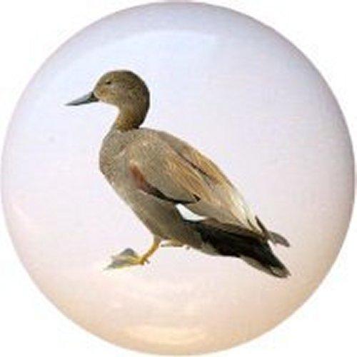 Female Mallard Duck Bird Decorative Glossy Ceramic Drawer Pull Knob